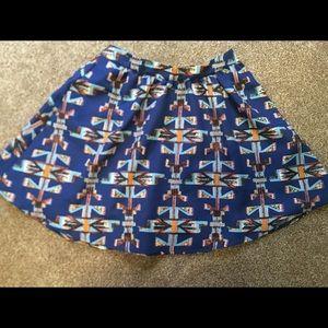 Lush Aztec design flowey skirt